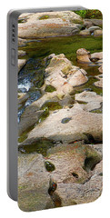 Portable Battery Charger featuring the photograph Sandstone Creek Bed by Sharon Talson