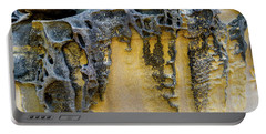 Portable Battery Charger featuring the photograph Sandstone Detail Syd01 by Werner Padarin