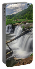 Portable Battery Charger featuring the photograph Sandstone Falls by Ronald Santini