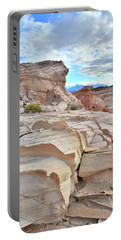 Sandstone Staircase In Valley Of Fire Portable Battery Charger
