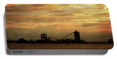 Sandusky Coal Dock Sunset Portable Battery Charger
