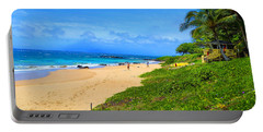 Portable Battery Charger featuring the photograph Sandy Beaches Of Maui by Michael Rucker