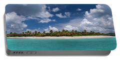 Portable Battery Charger featuring the photograph Sandy Cay Beach British Virgin Islands Panoramic by Adam Romanowicz
