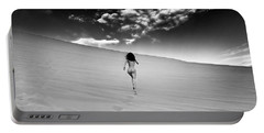 Sandy Dune Nude - Catching The Clouds Portable Battery Charger