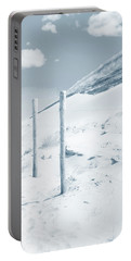 Portable Battery Charger featuring the photograph Sandy Dunes. Series Ethereal Blue by Jenny Rainbow
