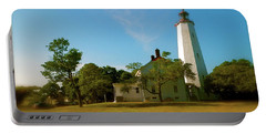 Portable Battery Charger featuring the photograph Sandy Hook Lighthouse by Iconic Images Art Gallery David Pucciarelli