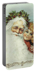Santa And His Little Admirer Portable Battery Charger