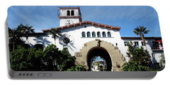 Santa Barbara Courthouse -by Linda Woods Portable Battery Charger by Linda Woods