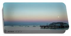 Santa Barbara Pier At Dusk Portable Battery Charger
