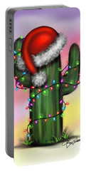 Santa Cactus Portable Battery Charger