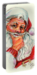 Santa Checking Twice Christmas Image Portable Battery Charger