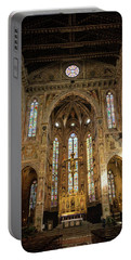 Portable Battery Charger featuring the photograph Santa Croce Florence Italy by Joan Carroll