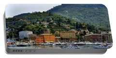 Portable Battery Charger featuring the photograph Santa Margherita Ligure by Corinne Rhode
