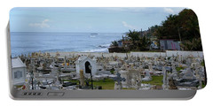 Santa Maria Magdalena De Pazzis Cemetery, Old San Juan Portable Battery Charger by Lois Lepisto