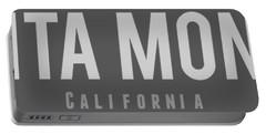 Santa Monica California Portable Battery Charger by Sean McDunn