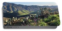 Santa Monica Mountains - Cactus Hillside View Portable Battery Charger