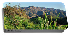 Santa Monica Mountains Green Landscape Portable Battery Charger