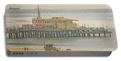 Portable Battery Charger featuring the digital art Santa Monica Pier by Anthony Murphy