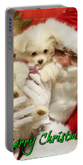 Santa Paws  Portable Battery Charger by Darren Robinson