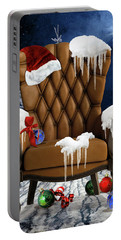 Santa's Chair Portable Battery Charger by Mihaela Pater