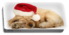 Santa's Sleepy Spaniel Portable Battery Charger