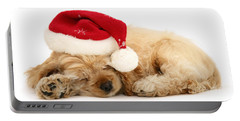 Santa's Sleepy Spaniel Portable Battery Charger
