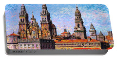 Santiago De Compostela, Cathedral, Spain Portable Battery Charger