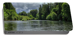 Santiam River Fishing Portable Battery Charger