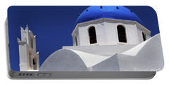 Portable Battery Charger featuring the photograph Santorini Greece Architectual Line 2 by Bob Christopher