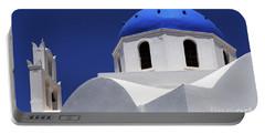 Santorini Greece Architectual Line 2 Portable Battery Charger by Bob Christopher