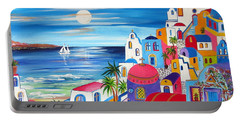 Santorini Moonlight Fantasy  Portable Battery Charger