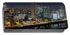 Sao Paulo Iconic Skyline - Cable-stayed Bridge  Portable Battery Charger