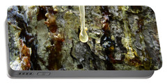 Portable Battery Charger featuring the photograph Sap Drip by Robert Knight