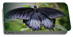 Sapphire Blue Swallowtail Butterfly Portable Battery Charger
