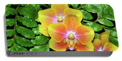 Sara Gold Orchids 003 Portable Battery Charger by George Bostian