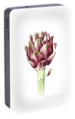 Sardinian Artichoke Portable Battery Charger by Alison Cooper