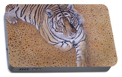Portable Battery Charger featuring the painting Sasha by Tom Roderick