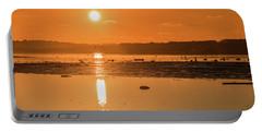 Saturday Morning Along The Estuary Pano Portable Battery Charger by Martina Fagan