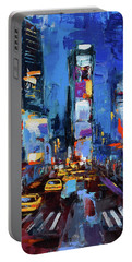 Saturday Night In Times Square Portable Battery Charger