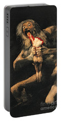 Saturn Devouring One Of His Children  Portable Battery Charger