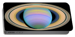 Saturn's Rings In Ultraviolet Light Portable Battery Charger