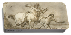 Satyr Leading A Centaur, Who Carries A Club, Bow And Quiver, Outside The Walls Of A City Portable Battery Charger
