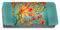 Portable Battery Charger featuring the photograph Saucer Magnolia by Angela Annas