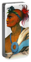 Portable Battery Charger featuring the photograph Sauk Warrior 1842 by Padre Art