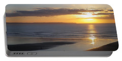 Saunton Sands Sunset Portable Battery Charger by Richard Brookes