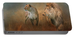 Savanna Lions Portable Battery Charger