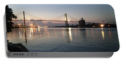 Savannah Bridge Evening  Portable Battery Charger