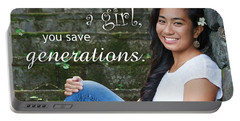 Save A Girl Portable Battery Charger