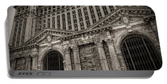 Save The Depot - Michigan Central Station Corktown - Detroit Michigan Portable Battery Charger by Gordon Dean II