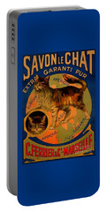 Savon Le Chat Antique French Poster Portable Battery Charger